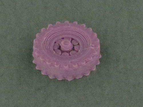 QF 25 pdr wheels (15mm)