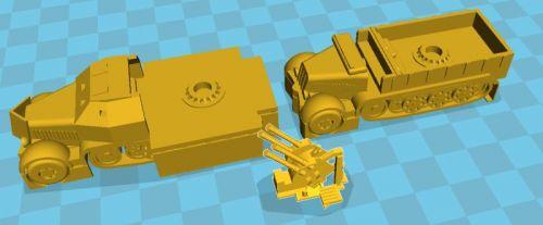 Sd Kfz 7/1 Quad AA halftrack (28mm)
