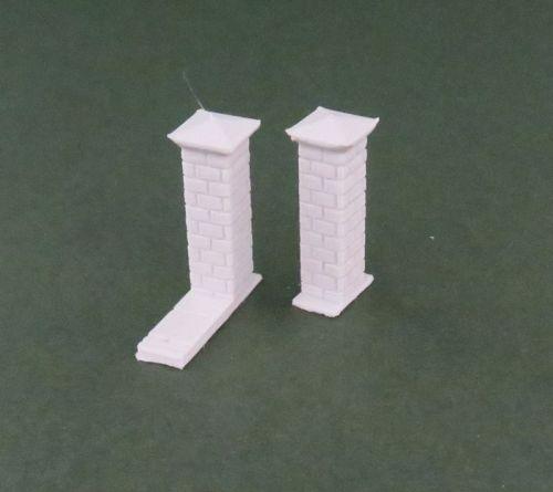 High Brick Wall Pillars x10 (15mm)
