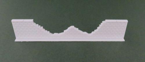 100mm Damaged High Brick Wall Straight #2 (15mm)