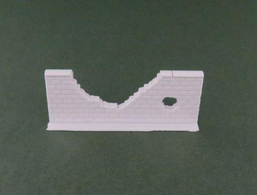 50mm Damaged High Brick Wall Straight (28mm)