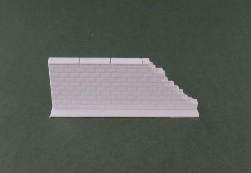 50mm Damaged End High Brick Wall Straight (28mm)