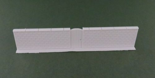 High Brick Wall with Gate (6mm)