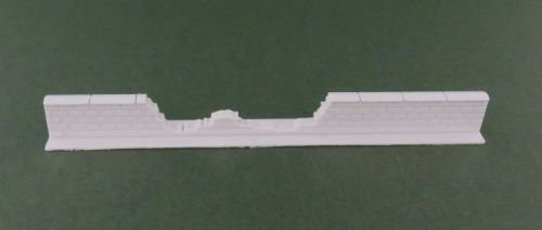 100mm Damaged Low Brick Wall Straight #2 (6mm)