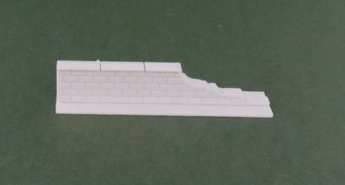 50mm Damaged End Low Brick Wall Straight (6mm)
