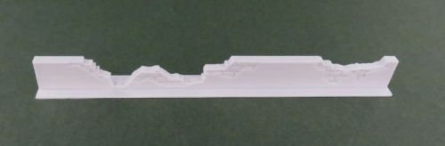 100mm Damaged Low Rendered Wall Straight #2 (28mm)