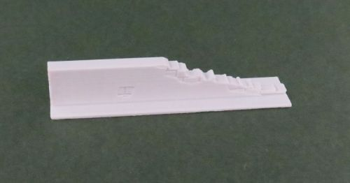 50mm Damaged End Low Rendered Wall Straight (28mm)