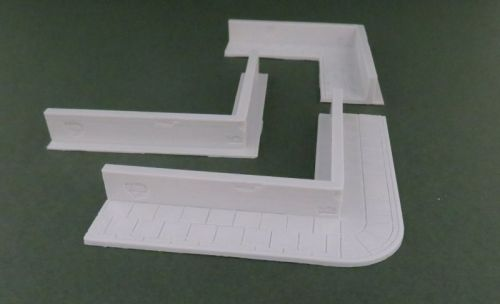 Low Rendered Wall corner (28mm)